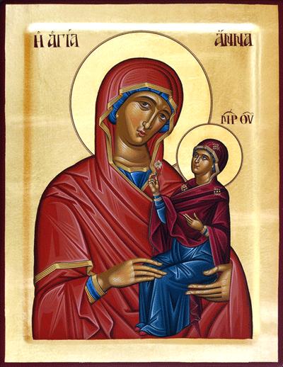 Ukrainian Orthodox Church of St. Anne, Toronto (Scarborough), Ontario: St. Anne Icon