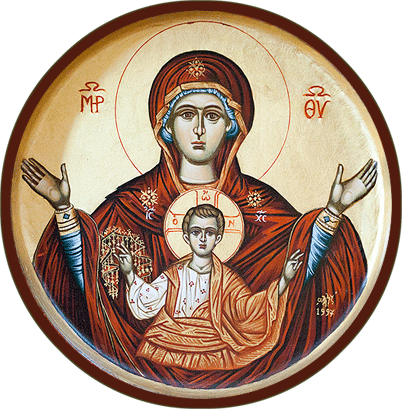 Ukrainian Orthodox Church of Saint Anne, Toronto (Scarborough), Ontario: Panagia, Theotokos with Jesus Christ