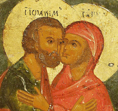 Ukrainian Orthodox Church of St. Anne, Toronto (Scarborough), Ontario: Husband and Wife, Sts. Joachim and Anna